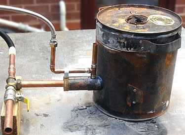Home made waste oil burner