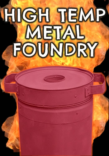 High temp home made metal foundry