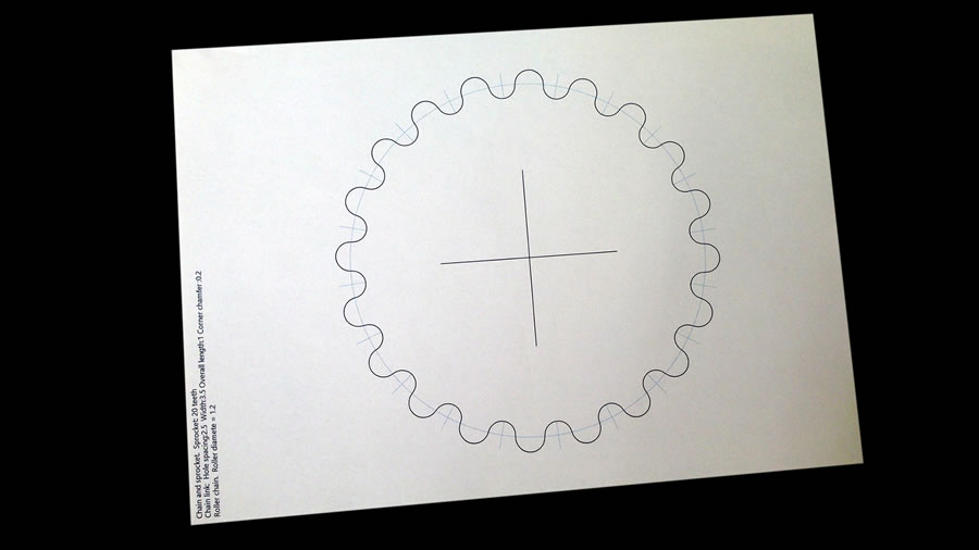 sprocket paper template