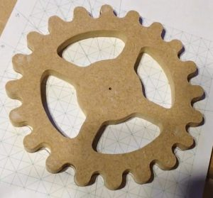 wooden sprocket