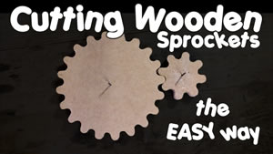 Easy sprocket cutting guide - View now on YouTube
